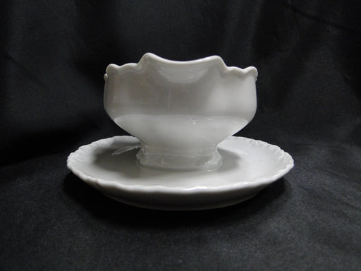 Hutschenreuther Racine, White: Gravy Boat w/ Attached Underplate, Selb