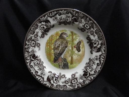 "Spode Woodland Birds of Prey Autumn Red Tail Hawk: NEW Dinner Plate 10 3/4"", Box"