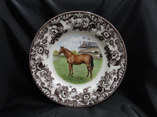 "Spode Woodland Horses Thoroughbred, England: NEW Dinner Plate, 10 3/4"",  Box"