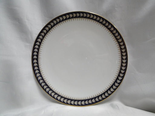 Wedgwood X7860, White Laurel on Cobalt w/ Gold: Luncheon Plate, 9 1/4""