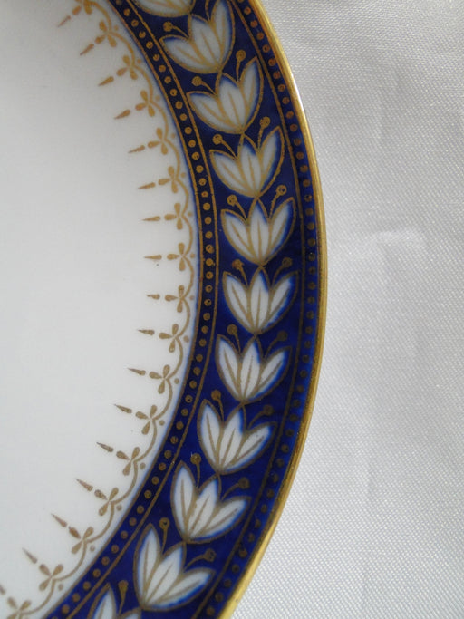 "Wedgwood X7860, White Laurel on Cobalt w/ Gold: 5 1/2"" Saucer (s) Only"