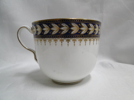 "Wedgwood X7860, White Laurel on Cobalt w/ Gold: Cup & Saucer Set, 2 1/2"", As Is"