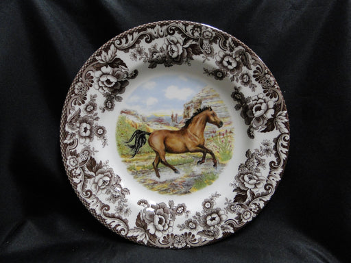 "Spode Woodland Horses American Quarter, England: NEW Dinner Plate 10 3/4"", Box"