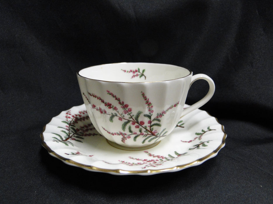 Royal Worcester Dunrobin, Purple Pink Gold: Cup & Saucer Set (s), 2 1/2""