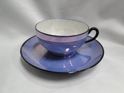 "Hutschenreuther Blue & White Luster: Cup & Saucer Set (s), 1 7/8"" Tall"