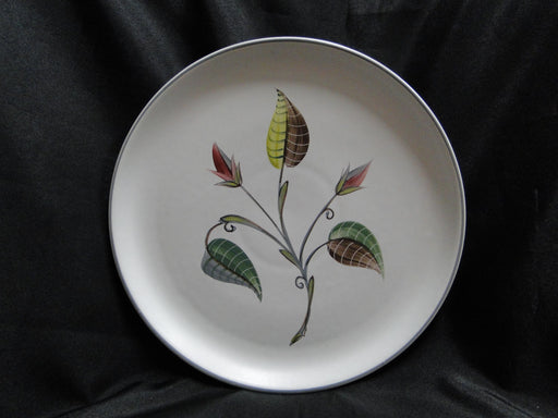 Denby Spring, Leaves & Flower Buds, Gray Trim: Dinner Plate, 10 1/4""