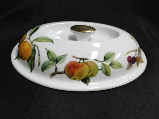 "Royal Worcester Evesham Gold, Fruit: Knob Lid Only for 10"" Oval Casserole, As Is"