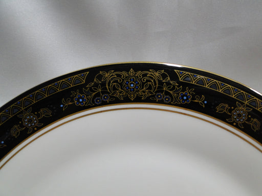 Royal Doulton Albany H5041, Black Rim: Dinner Plate (s), 10 1/2""