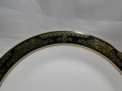 "Royal Doulton Albany H5041, Black Rim: Salad Plate, 8"", As Is"