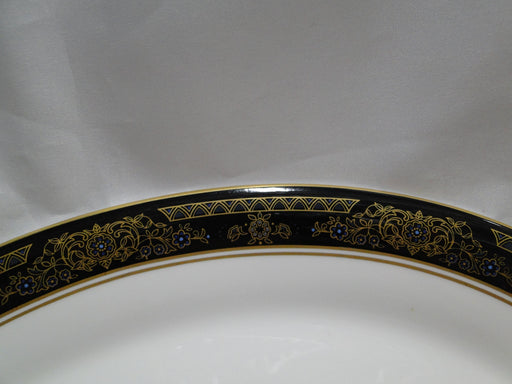Royal Doulton Albany H5041, Black Rim: Oval Serving Platter, 13 3/8""