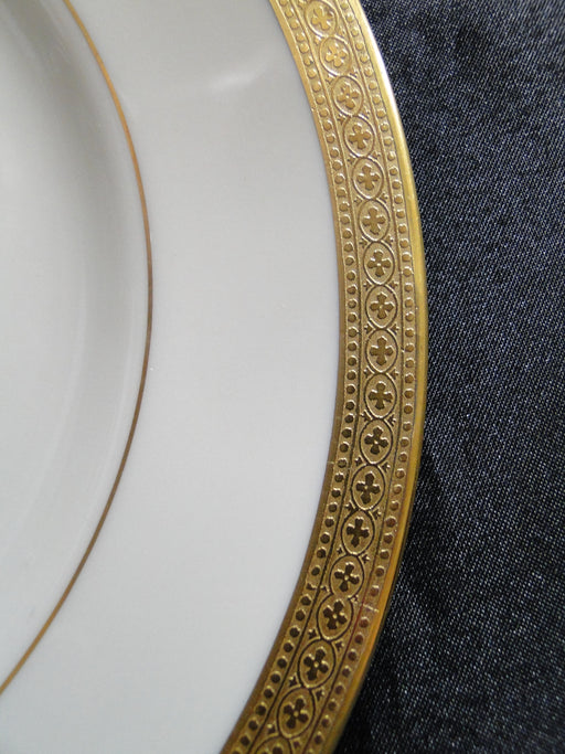 Syracuse Bracelet, Gold Encrusted Band, Gold Verge: Salad Plate, 8""