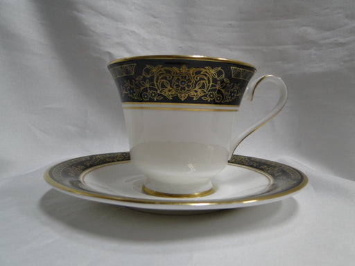 "Royal Doulton Albany H5041, Black Rim: Cup & Saucer Set (s), 3"" Tall"