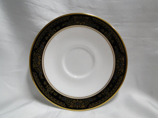 "Royal Doulton Albany H5041, Black Rim: 6 1/8"" Saucer Only, No Cup"