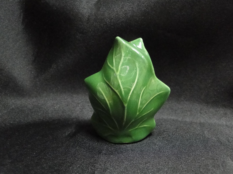 "Franciscan Ivy (USA), Green: Salt OR Pepper Shaker, Dark, 3"" Tall, 1 Hole, Nick"