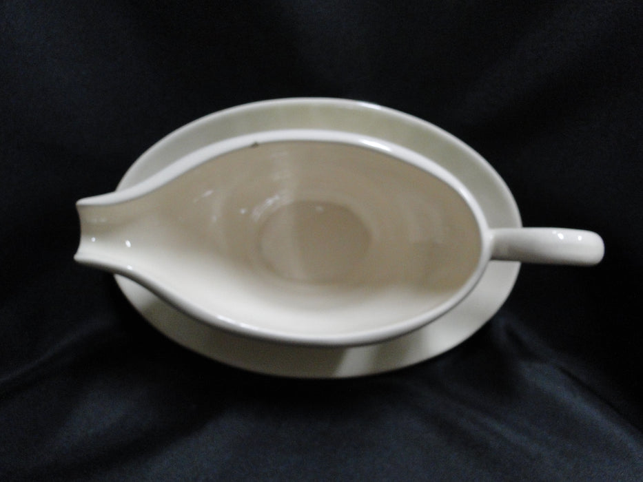 Franciscan Ivy (USA), Green: Gravy Boat & Attached Underplate, Chip, As Is