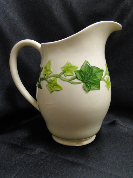 "Franciscan Ivy (USA), Green: Pitcher, 8"" Tall, 48 oz, As Is"