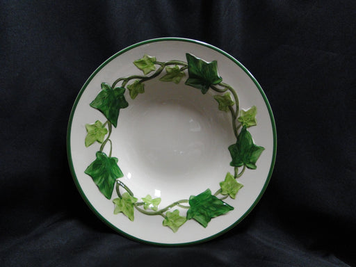 "Franciscan Ivy (USA), Green: Rim Soup Bowl (s), 8 5/8"", Chip, As Is"