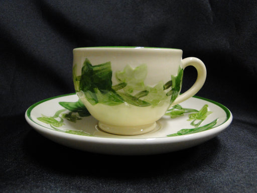 "Franciscan Ivy (USA), Green: Cup & Saucer Set, 2 5/8"", No Backstamp"