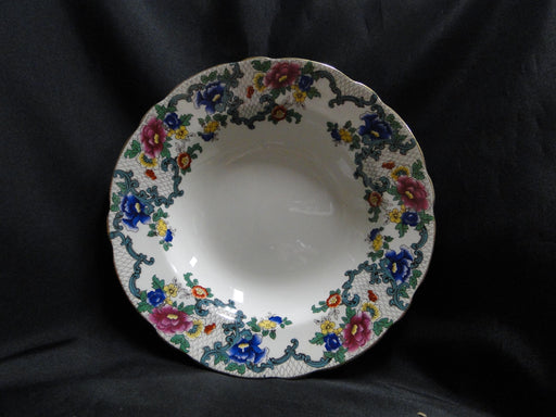 Royal Cauldon Victoria Gold, Florals, Gold Trim: Rim Soup Bowl, 9 1/2""