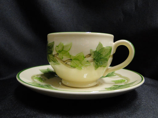 "Franciscan Ivy (USA), Green: Cup & Saucer Set, 2 5/8"", As Is"