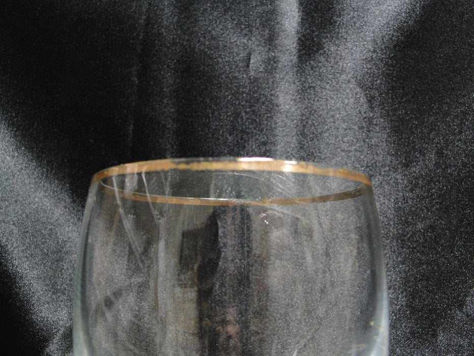 "Gold Trim: Water or Wine Goblet, 8 3/8"" Tall -- CR#085"