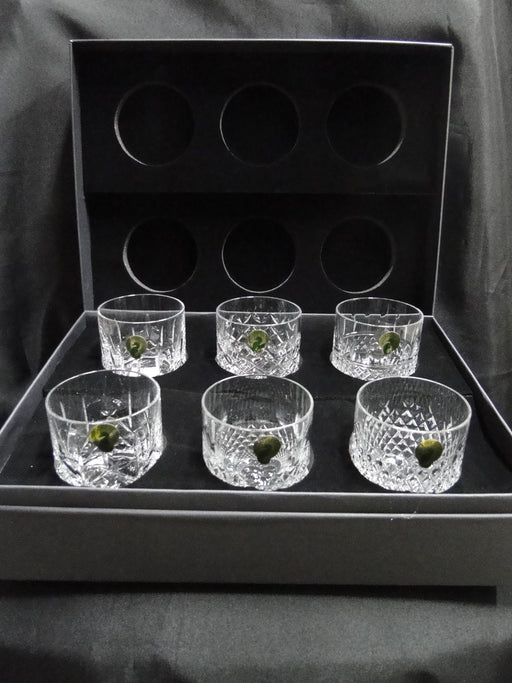 "Waterford Crystal Connoisseur Heritage: NEW Set of 6 Whiskey Glasses, 3 1/8"", 7 oz, Box, FREE SHIP, FREE WRAP"