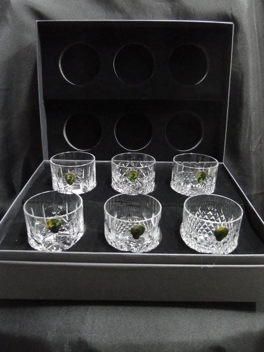 "Waterford Crystal Connoisseur Heritage: NEW Set of 6 Straight Sided Tumblers, 3 1/8"", 7 oz, Box, FREE SHIP, FREE WRAP"