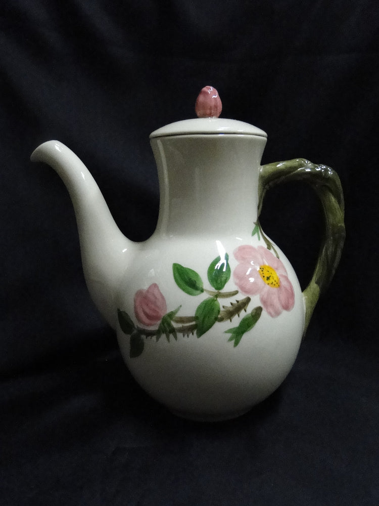 "Franciscan Desert Rose, USA:  Coffee Pot & Lid, 8 1/2"" Tall, As Is"