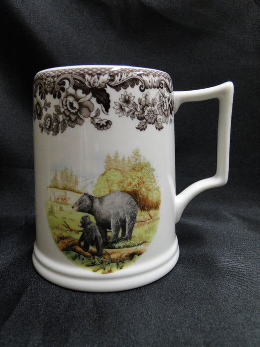 "Spode Woodland Black Bear: NEW Tankard / Mug (s), 4.25"", 16 oz,  Box"