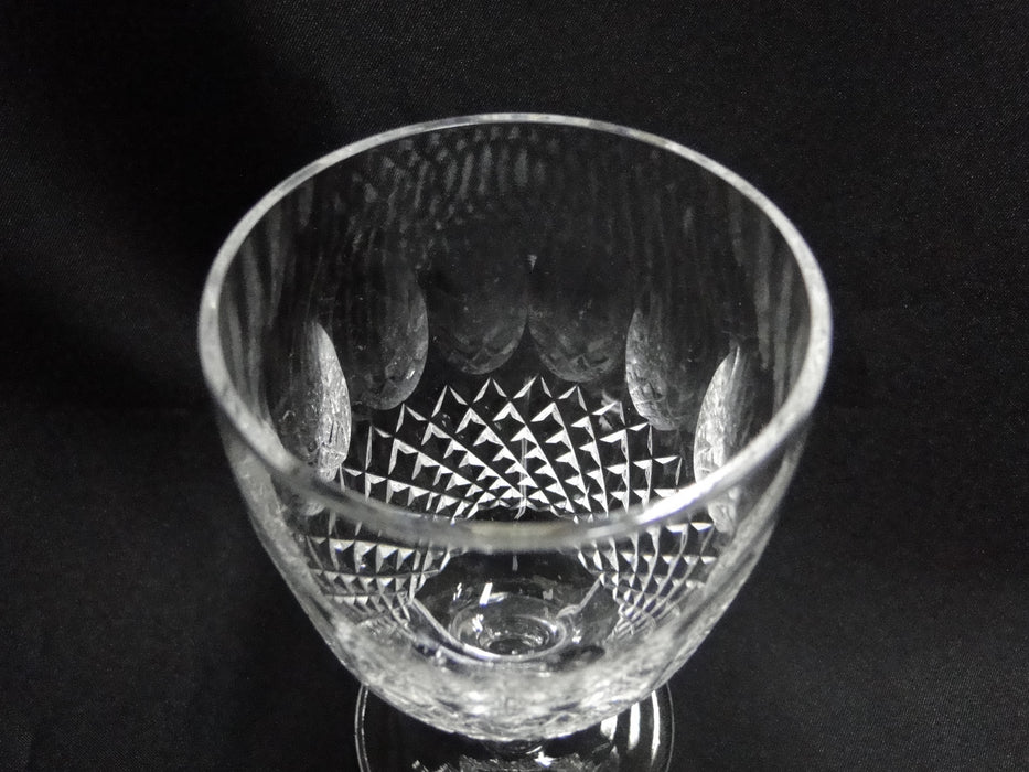 "Waterford Crystal Colleen, Short Stem, Thumbprints: Claret Wine (s), 4 3/4"" Tall"