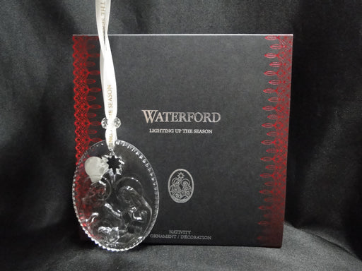 Waterford Crystal Ornament: NEW Nativity Ornament, Box, FREE SHIP, FREE WRAP