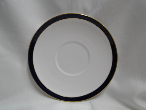 "Spode Consul Cobalt, Blue Band & Gold on White: 7 1/8"" Cream Soup Saucer Only"