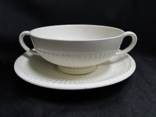 Wedgwood Edme, Ribbed Rim, Off White: Cream Soup & Saucer Set (s), 2 1/8""