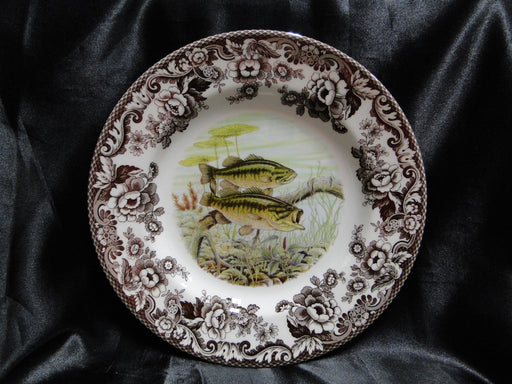 "Spode Woodland North American Fish Largemouth Bass: NEW Dinner Plate 10 3/4"" Box"