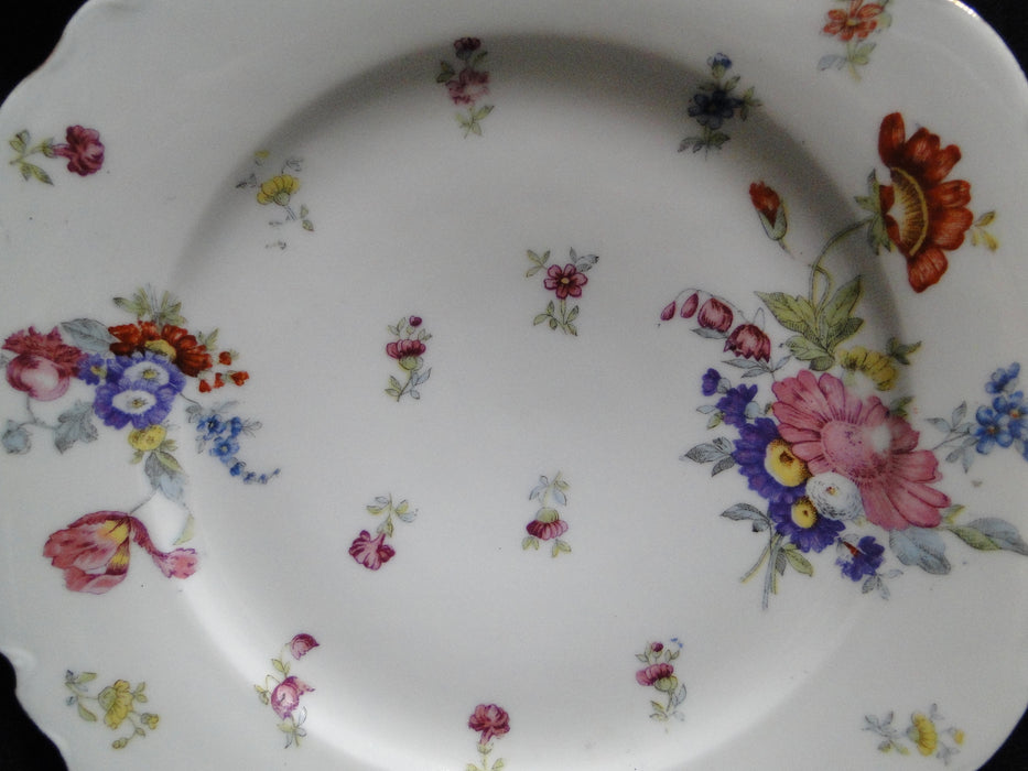 Oscar & Edgar Gutherz Flowers, Gold Trim: Luncheon Plate (s), 8 3/4""