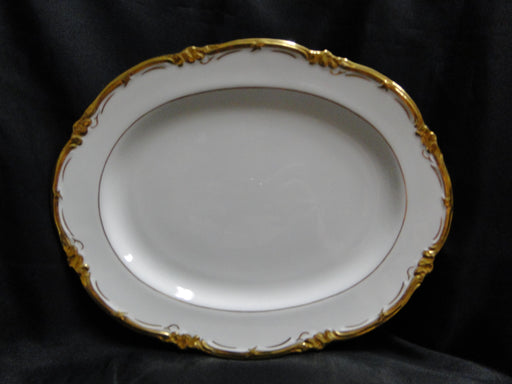 Royal Cauldon Eden, Thick Gold Trim, Scalloped: Oval Serving Platter, 12 1/2""