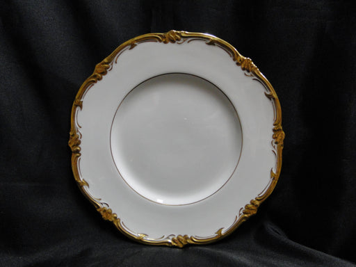 Royal Cauldon Eden, Thick Gold Trim, Scalloped: Luncheon Plate (s), 9 1/8""