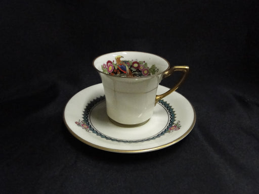 Rosenthal Troubadour 2536, Bird, Floral, Cream: Demitasse Cup & Saucer Set As Is