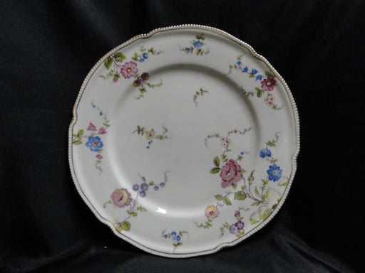 "Castleton Sunnyvale, Multicolored Flowers: Dinner Plate (s), 10 1/2"", As Is"