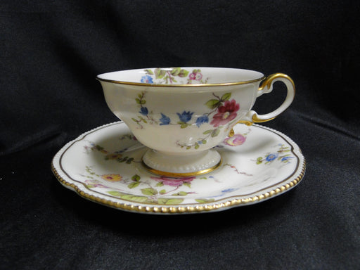 "Castleton Sunnyvale, Multicolored Flowers: Cup & Saucer Set, 2 1/4"", As Is"
