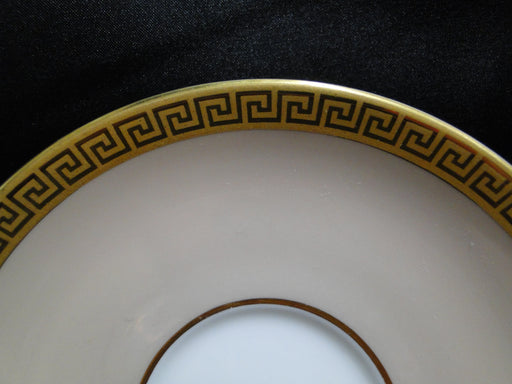 "Royal Worcester Athena, Gold Greek Key: 5 1/2"" Saucer Only, No Cup"