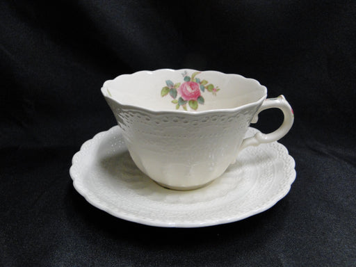 "Copeland Spode's Jewel Billingsley Rose: Cup & Saucer Set (s), 2 3/8"", Crazing"