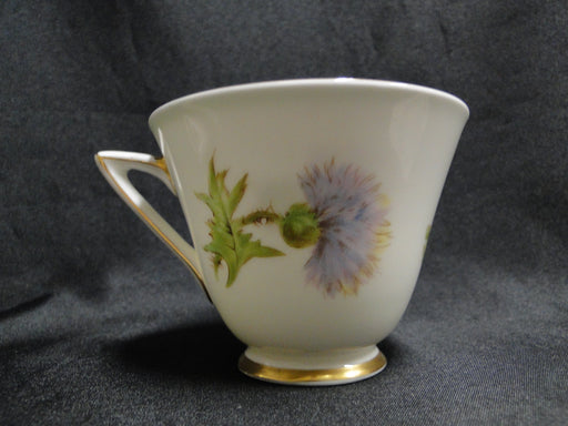 Royal Doulton Glamis Thistle, Purple: Pointed Handle Cup & Saucer Set, As Is