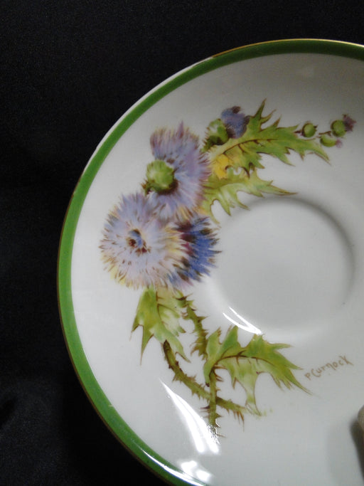 "Royal Doulton Glamis Thistle, Purple: 5 1/2"" Saucer (s) Only, No Cup, As Is"