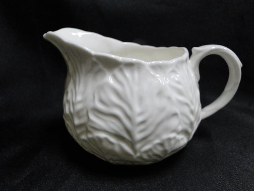 Coalport Countryware, All White, Embossed Leaves: Creamer / Cream Pitcher 3""