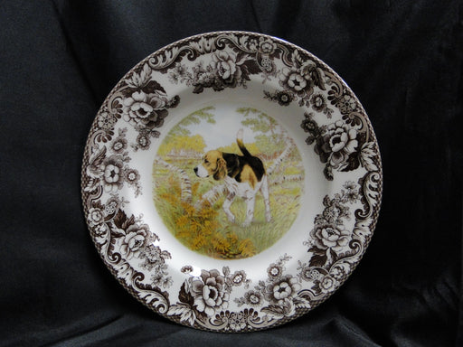 "Spode Woodland Beagle Hunting Dog: NEW Dinner Plate (s), 10 3/4"", Box"