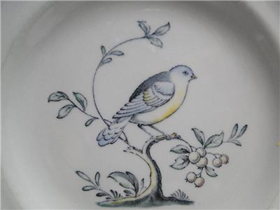 Spode Queen's Bird, Multicolored Bird on Gray: Bread Plate (s), 6""