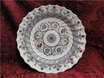 "Spode Florence, Flowers w/ Brown Scrolls: Salad Plate, 8"", Crazing, As Is"