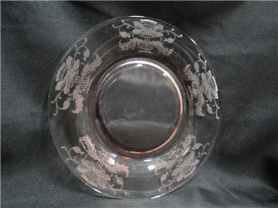 Tiffin Flanders Pink, Pink, Etched: Luncheon Plate (s), 8""