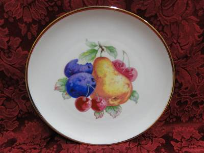 NC Western Germany, Fruits, Gold Trim: Salad Plate (s) 8""